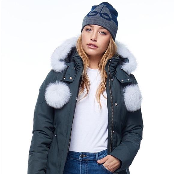 409c869fd Moose Knuckles Stirling Parka Fur Pom Pom Coat NWT